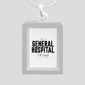 It's a General Hospital Thing Silver Portrait Neck