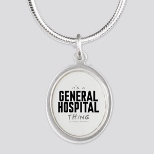 It's a General Hospital Thing Silver Oval Necklace