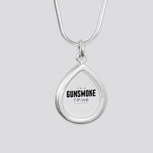 It's a Gunsmoke Thing Silver Teardrop Necklace