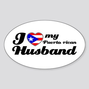 Puerto rican Husband Oval Sticker