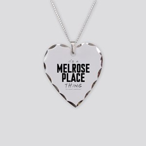 It's a Melrose Place Thing Necklace Heart Charm