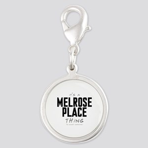 It's a Melrose Place Thing Silver Round Charm