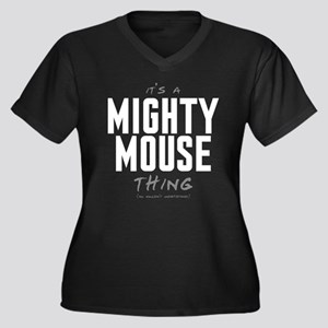 It's a Mighty Mouse Thing Women's Dark Plus Size V