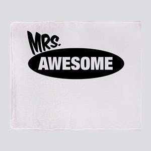 Mr. Awesome & Mrs. Awesome Couples Design Throw Bl