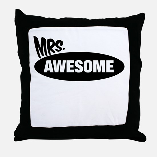 Mr. Awesome & Mrs. Awesome Couples Design Throw Pi