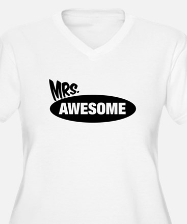 Mr. Awesome & Mrs. Awesome Couples Design Plus Siz