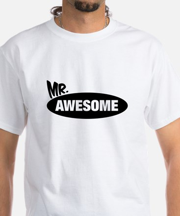 Mr. Awesome & Mrs. Awesome Couples Design T-Shirt