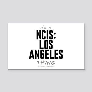 It's a NCIS: Los Angeles Thing Rectangle Car Magne