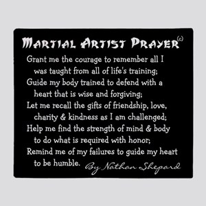 Martial Arts Student Throw Blanket