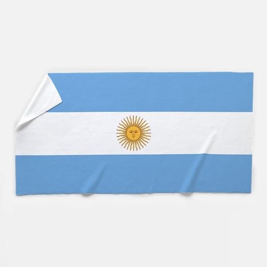 Argentina Flag Beach Towel