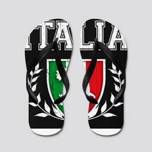 Vintage Italian Crest Flip Flops