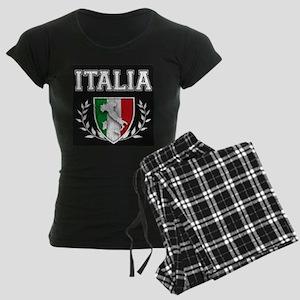 Vintage Italian Crest Women's Dark Pajamas