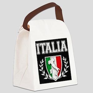Vintage Italian Crest Canvas Lunch Bag