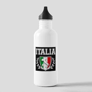 Vintage Italian Crest Stainless Water Bottle 1.0l