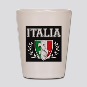 Vintage Italian Crest Shot Glass.