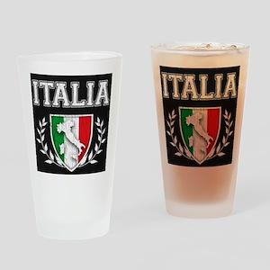 Vintage Italian Crest Drinking Glass.