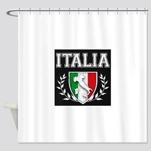 Vintage Italian Crest Shower Curtain