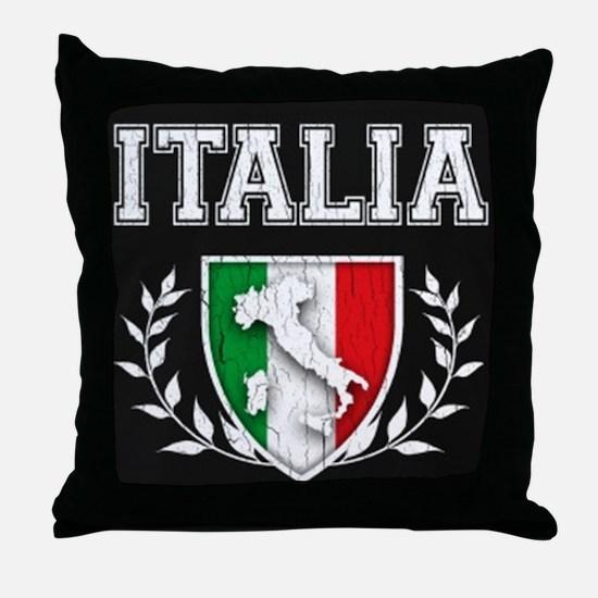 Vintage Italian Crest Throw Pillow