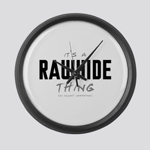It's a Rawhide Thing Large Wall Clock