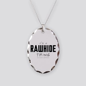 It's a Rawhide Thing Necklace Oval Charm