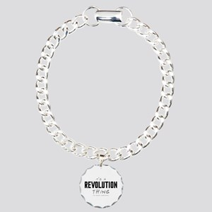 It's a Revolution Thing Charm Bracelet, One Charm