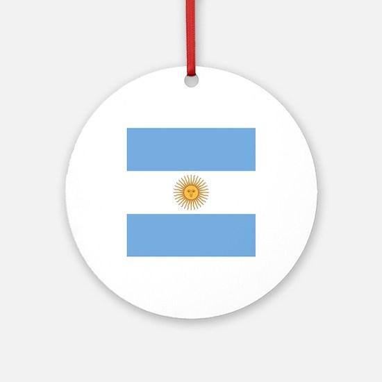 Argentina Flag Ornament (Round)