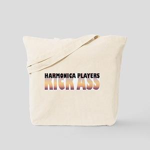 Harmonica Players Kick Ass Tote Bag