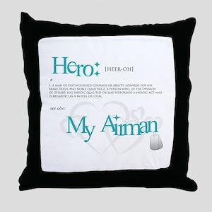 Hero: Airman Throw Pillow