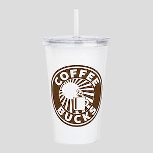 Coffee Bucks Scrubs Acrylic Double-Wall Tumbler