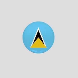 Saint Lucia Flag Mini Button