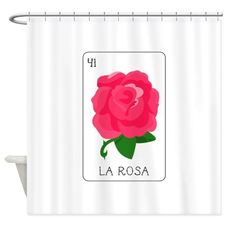 La Rosa Loteria Card Shower Curtain By Embroidery14