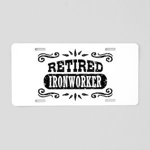 Retired Ironworker Aluminum License Plate