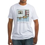 Who's chasing who? Fitted T-Shirt
