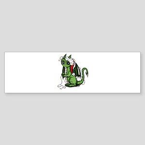 Christmas Dragon Bumper Sticker