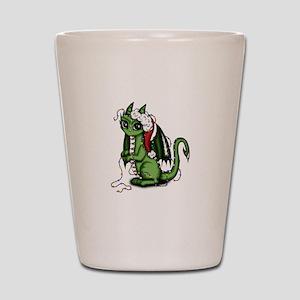 Christmas Dragon Shot Glass