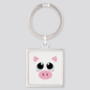 Pig Face Keychains