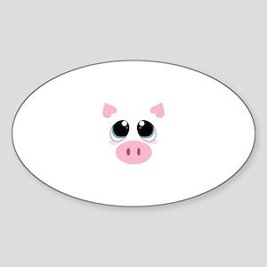 Pig Face Sticker