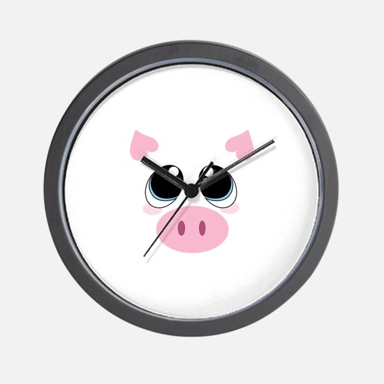 Pig Face Wall Clock
