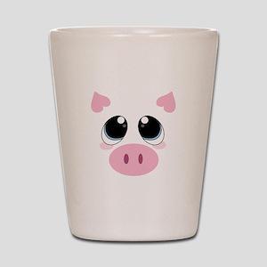 Pig Face Shot Glass