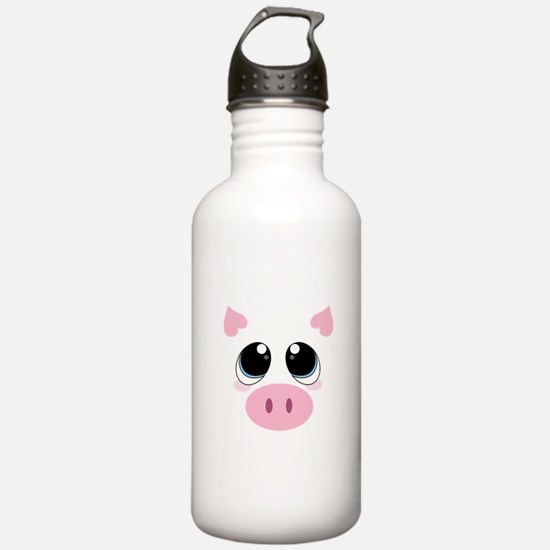 Pig Face Water Bottle