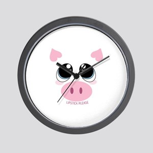 Lipstick Please Wall Clock