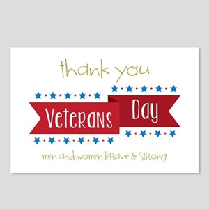 Thank You Men And Women Brave & Storng Postcards (