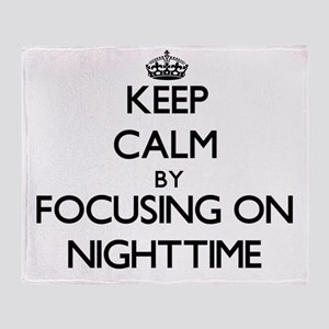 Keep Calm by focusing on Nighttime Throw Blanket