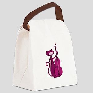 Bass Cat Canvas Lunch Bag