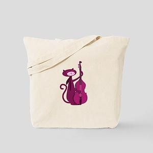 Bass Cat Tote Bag