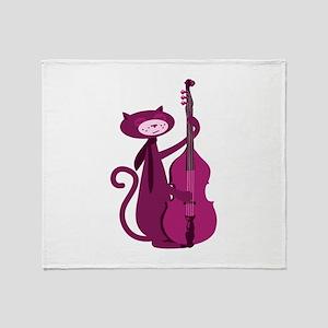 Bass Cat Throw Blanket