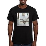 Flushed Goldfish Men's Fitted T-Shirt (dark)