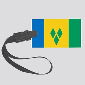 St Vincent Grenadines Flag Large Luggage Tag