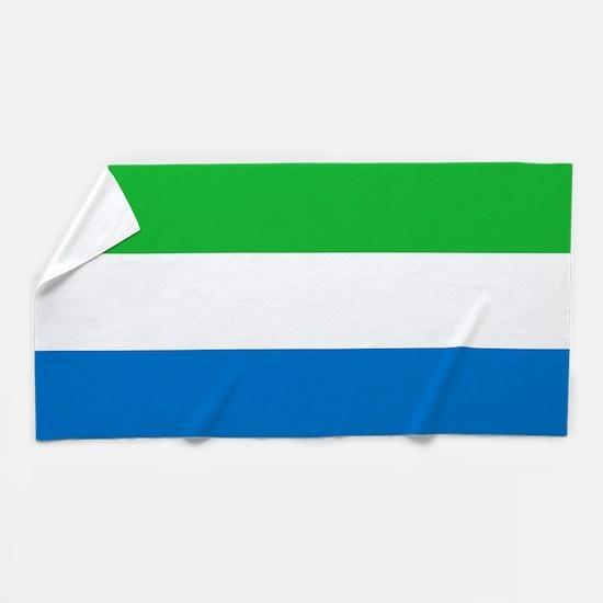 Flag of Sierre Leone Beach Towel