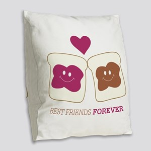 Best Friends forever Burlap Throw Pillow